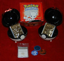 POKEMON #150 MEWTWO #25 PICACHU 23 GOLD PLATED CARD LIMITED EDITION BALL