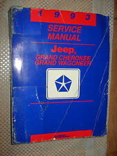 1993 JEEP GRAND CHEROKEE  GRAND WAGONEER SERVICE MANUAL OEM SHOP BOOK REPAIR