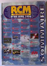 RCM n°180 du 4/1996; Spitfire/ Mikrosol/ Extra 300/ Pyréna/ Benzin Trainer Vario