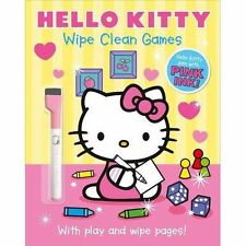 Hello Kitty: Wipe Clean Games (Hello Kitty), New,  Book