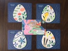 """Canada Series Starbucks """"EASTER EGG SET 2018"""" (5) Gift Cards - New No Value"""