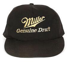 Vintage Miller Beer Vintage Genuine Draft Baseball Cap Hat Snapback Embroidered