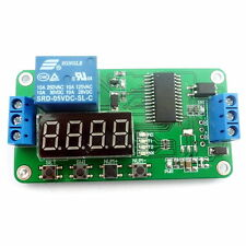 DC 5V Multifunction Self-lock Relay PLC Cycle Timer Module Delay Time Switch