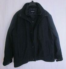 Mens London Fog Wool Blend Coat Black Size XL