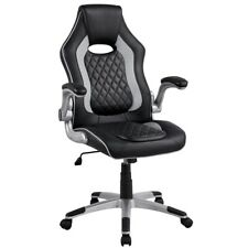 Gray Executive Office Chair Gaming Chair Office Furniture Lift Up Arm Rest