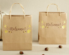 96 Gold Foil Fall Welcome Wedding Favor Bags