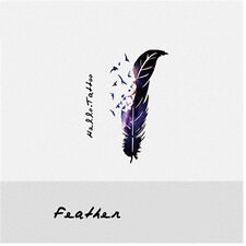 Women Mini Waterproof Temporary Fake Tattoo Sticker Feather DIY Decals