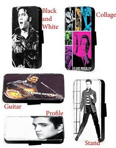 Elvis Presley Profile faux leather wallet phone case for Huawei Samsung
