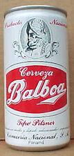 Balboa Cerveza Tipo Pilsner 10oz empty Beer Can, Cerveceria Nacional, Panama 1+