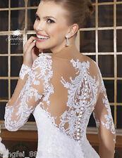 White/Ivory Wedding Dress Bridal Gown Custom Size 4 6 8 10 12 14 16 18 20