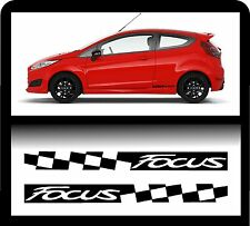 For Ford `2 x Focus Checks`   - Decal Sticker 195 x 30mm!- one for each side!
