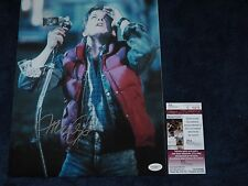 BACK TO THE FUTURE FAMILY TIES MARTY MCFLY MICHAEL J. FOX signed 11X14 JSA #2