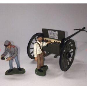 Britains 17432 Civil War Confederate Artillery Gun Cannon Limber Set 54mm New
