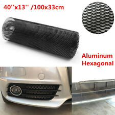 "40""x13"" Black Aluminum Hexagonal Style Car Body Grille Net Mesh Grill Section"
