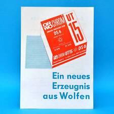 ORWO UT 15 DS 8 von 1974 Werbezettel Werbung DDR Wolfen Bitterfeld B