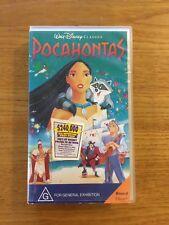WALT DISNEY CLASSICS. POCAHONTAS. VHS. RATED G