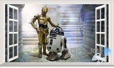 Star Wars R2D2 Robot 3D Window Wall decor Sticker Kids Boy Décor Gift