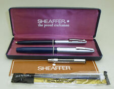 Blue Sheaffer Imperial Fountain Pen, Steel Cap, Boxed w/ Extras