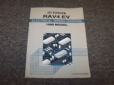 1999 Toyota Rav4 EV Crossover Factory Electrical Wiring Diagram Manual 2.0L