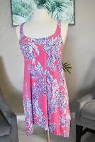 Lilly Pulitzer Monterey Samba Tank Dress Extra Small XS EUC Pink