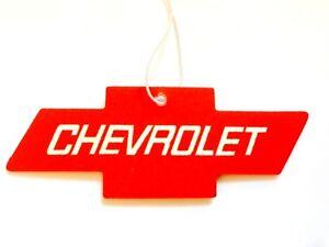 Chevy Cherry Red Air Freshener Rear View Mirror Instrument Panel Emblem Visor SS