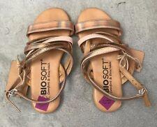 Bio Soft Girls' Gold Sandals Size 12.5 UK Brand New
