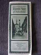 VINTAGE TOURIST MAP OF SWITZERLAND 1926 SWISS FEDERAL RAILWAYS
