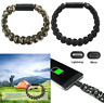 New 550lb Paracord Survival Bracelet USB Charger Charging Cable iPhone Android
