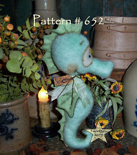 "Patti's Ratties Primitive Seahorse 9"" Beach Nautical Doll Paper Pattern #652"