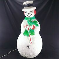 "Union Products Frosty The Snowman Blow Mold 40"" Dimpled Lighted #7530 Vintage"