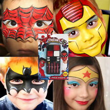 Spiderman Party Face Paint Stage Painting Make up Batman Wonder Woman Iron Man