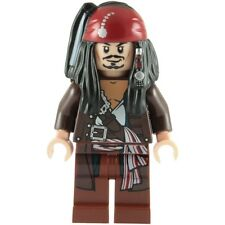 Lego Pirates Of The Carribean Captain Jack Sparrow with Jacket Minifigure NEW