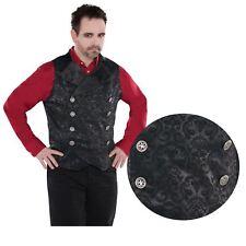 Adult Mens Gothic Venetian Vampire Waistcoat Vest Halloween Costume Accessory