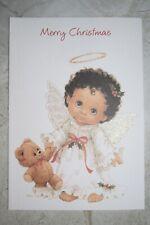 NEW Gibson Greetings Christmas Card Greeting Card--Angel Baby & Teddy Bear