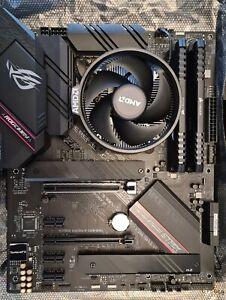 AMD Ryzen 5 5600X, ASUS ROG Strix B 550 F Gaming board and 16GB DDR4 RAM