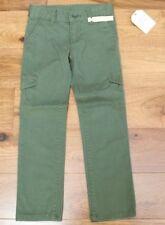New Faded Glory Green Uniform Pants sz 5 Girls *Adjustable Waist* Cargo Nwt