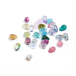 10 Teardrop Beads Czech Assorted Purple Mermaid Tears Jewelry Supplies 6mm