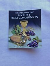 """""""FIRST HOLY COMMUNION TIE TACK"""" 5/8"""" with colorful card, New in pkg."""
