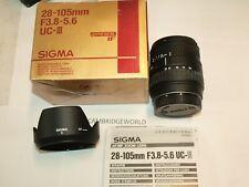 28-105mm F3.8-5.6 UC III Sigma aspherical NEW zoom lens for Sony Alpha minolta