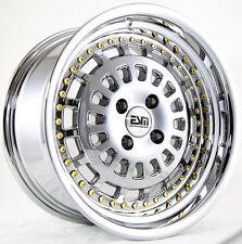 16X8 ESM 015 Rims 4X100 +20 Platinum Chrome Wheels (Set of 4)