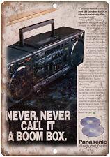 "Panasonic Boombox Ghetto Blaster 10"" x 7"" reproduction metal sign"