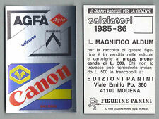 SPONSOR CALCIATORI PANINI 1985/86 - NUOVA/NEW N.269 - UDINESE/VERONA