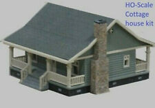 HO Scale Cottage house set (Gray) Hobby train town unassembled DIY Kit