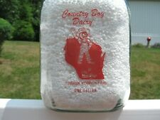 TALL SQ GALLON PYRO red COLOR COUNTRY BOY DAIRY STOUGHTON WISCONSIN PIC BOY
