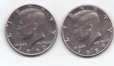 United States US Half Dollar 1989 D , 1990 P  two coins