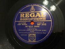 "NORLAND CASTLE SALVATION ARMY BAND ""The Rally""/""Fire Away"" 78rpm 10"" c1933 NM+"