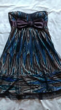 """fabulous party dress - teeze me sz small 34"""" 8-10 empire line strapless unusual"""