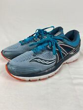 Saucony Mens Triumph ISOFIT Everun Teal Athletic Trail Running Shoes Size 11.5