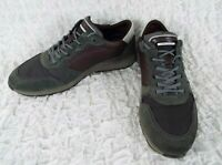 Ecco Suede Leather Lace Up Fashion Sneakers Shoes Men's Size US 10-10.5 Euro 44