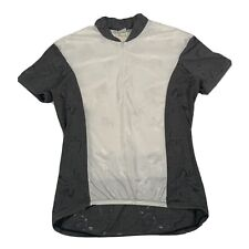 Hind For Women Grey & White Short Sleeve 1/4 Zip Cycling Jersey - Large
